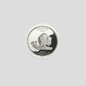 kansas-black Mini Button