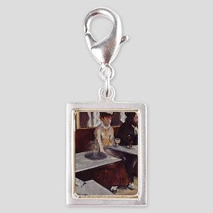 Der Absinth. Degas, Edgar Ge Silver Portrait Charm