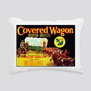 Covered Wagon Bartletts Rectangular Canvas Pillow