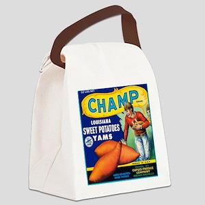 Champ Louisiana Sweet Potatoes Canvas Lunch Bag