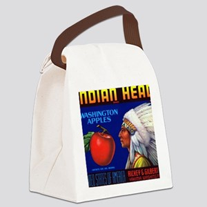 Indian Head Washington Apples Canvas Lunch Bag