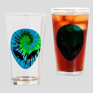 Tie Dye Alien Drinking Glass