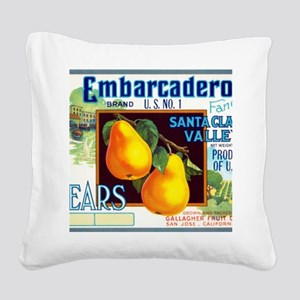 Embarcadero Pears Square Canvas Pillow