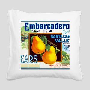 Embarcadero Pears Square Canvas Pillow