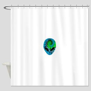 Tie Dye Alien Shower Curtain