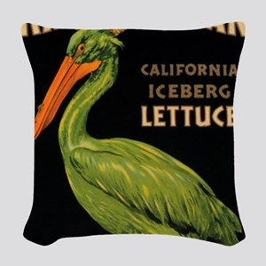 King Pelican Lettuce Woven Throw Pillow