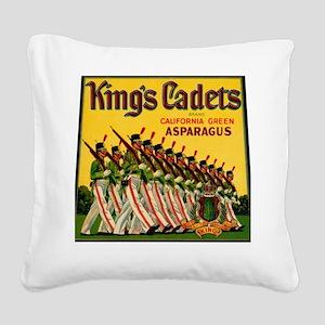Kings Cadets Asparagus Square Canvas Pillow