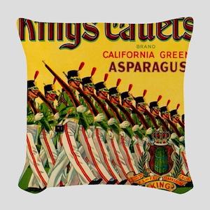 Kings Cadets Asparagus Woven Throw Pillow
