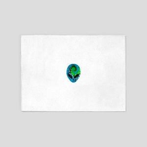 Tie Dye Alien 5'x7'Area Rug