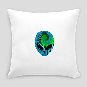 Tie Dye Alien Everyday Pillow