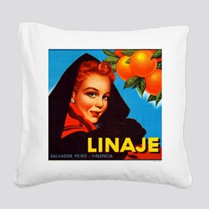 Linaje Valencia Oranges Square Canvas Pillow