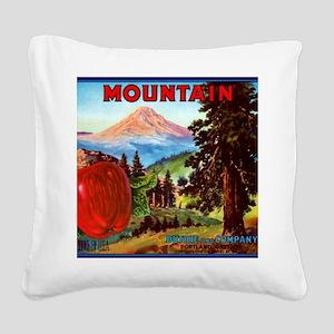 Mountain Apples Portland Oreg Square Canvas Pillow