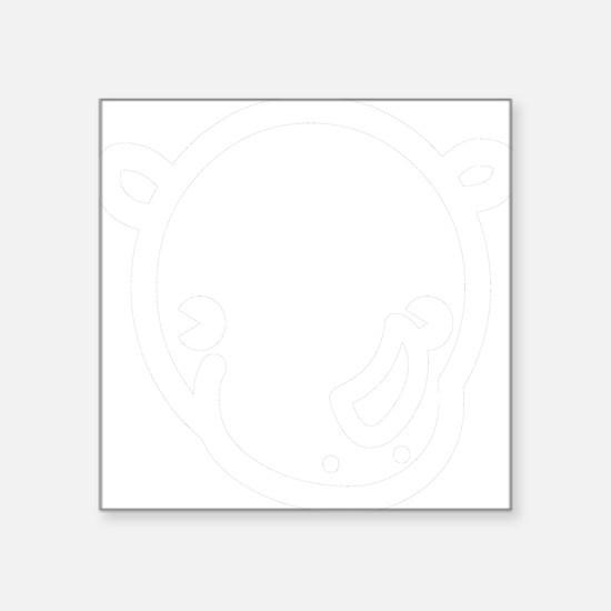 "r-black Square Sticker 3"" x 3"""