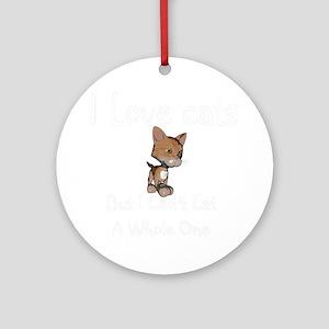 cats-black. Round Ornament