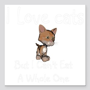 "cats-black. Square Car Magnet 3"" x 3"""