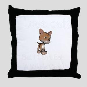 cats-black. Throw Pillow