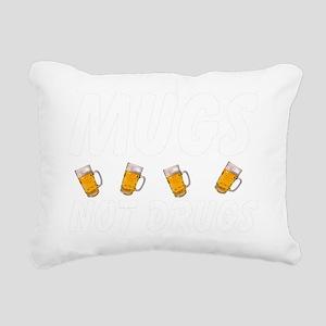 mugs-black. Rectangular Canvas Pillow