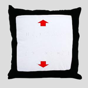 thelegend-_black. Throw Pillow