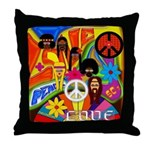 1960's Retro Sixties Decor Throw Pillow