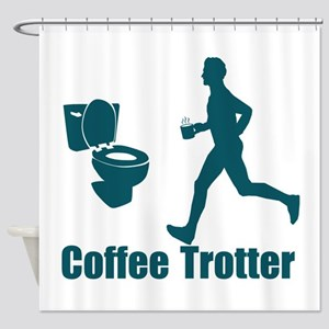 Coffee Trotter Shower Curtain