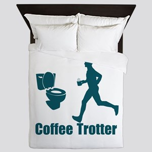 Coffee Trotter Queen Duvet