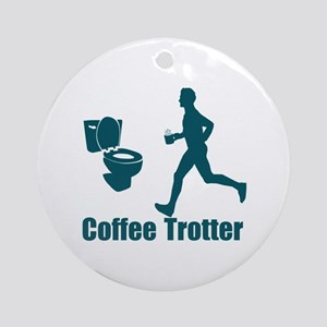 Coffee Trotter Ornament (Round)