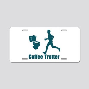 Coffee Trotter Aluminum License Plate
