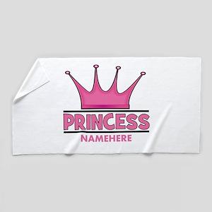 Custom Princess Beach Towel