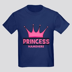 Custom Princess Kids Dark T-Shirt