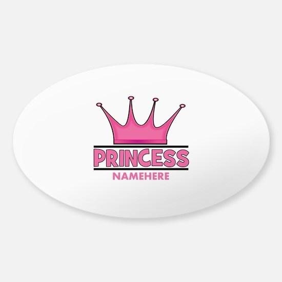 Custom Princess Sticker (Oval)