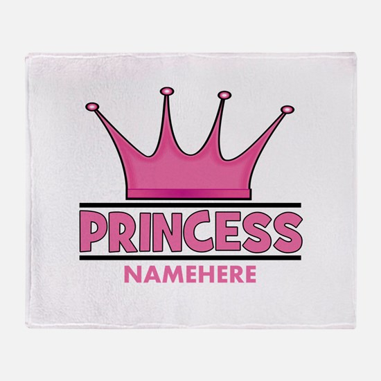 Custom Princess Throw Blanket