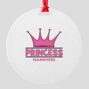 Custom Princess Round Ornament