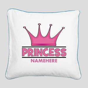 Custom Princess Square Canvas Pillow