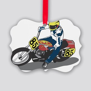 extreme sports motorcycle racer c Picture Ornament
