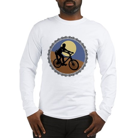 mountain biking chain design c Long Sleeve T-Shirt