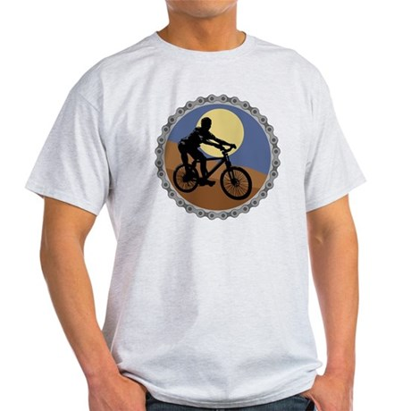 mountain biking chain design copy Light T-Shirt