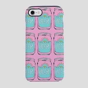 Pink beer iPhone 7 Tough Case