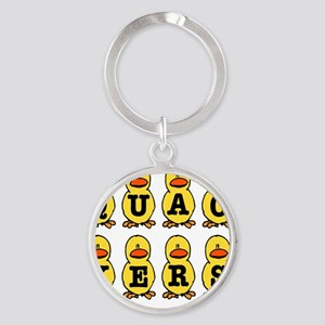QUACKERS DUCKS Round Keychain