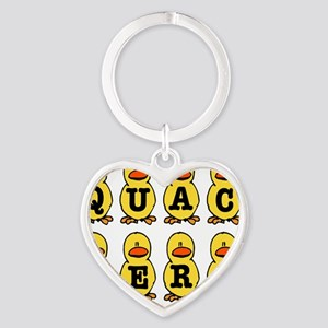 QUACKERS DUCKS Heart Keychain