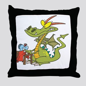 DragonSew copy Throw Pillow