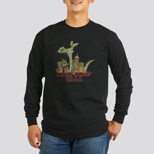 hungry hungry Zilla Long Sleeve Dark T-Shirt