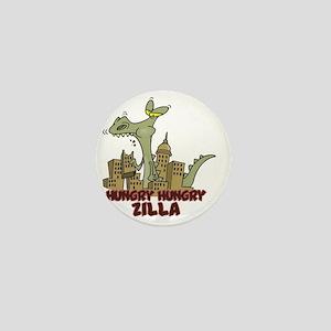 hungry hungry Zilla Mini Button