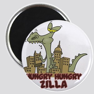 hungry hungry Zilla Magnet