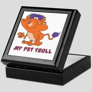 funny pet troll Keepsake Box