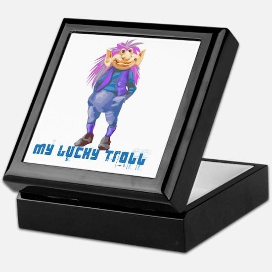 my lucky troll Keepsake Box