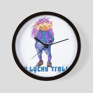 my lucky troll Wall Clock