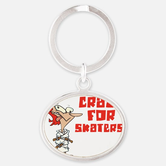 skaters Oval Keychain
