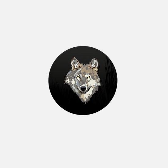 Lone Wolf Mini Button