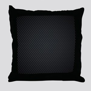 Carbon Mesh Pattern Throw Pillow