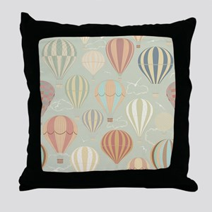 Vintage Hot Air Balloons Throw Pillow